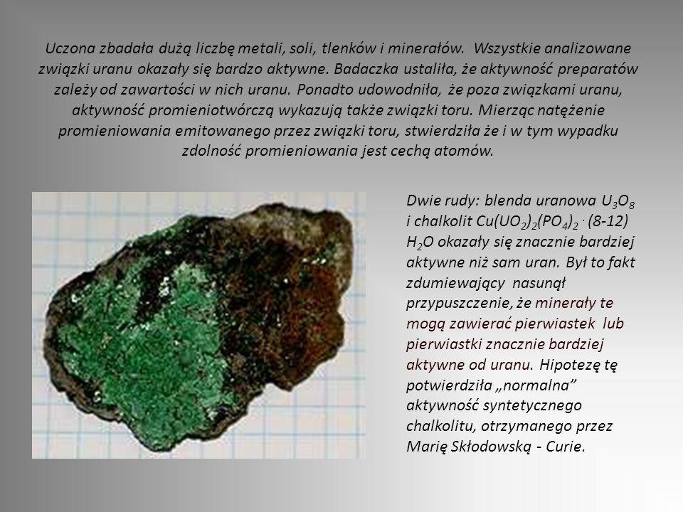 Uczona zbadała dużą liczbę metali, soli, tlenków i minerałów