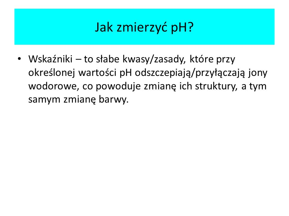 Jak zmierzyć pH