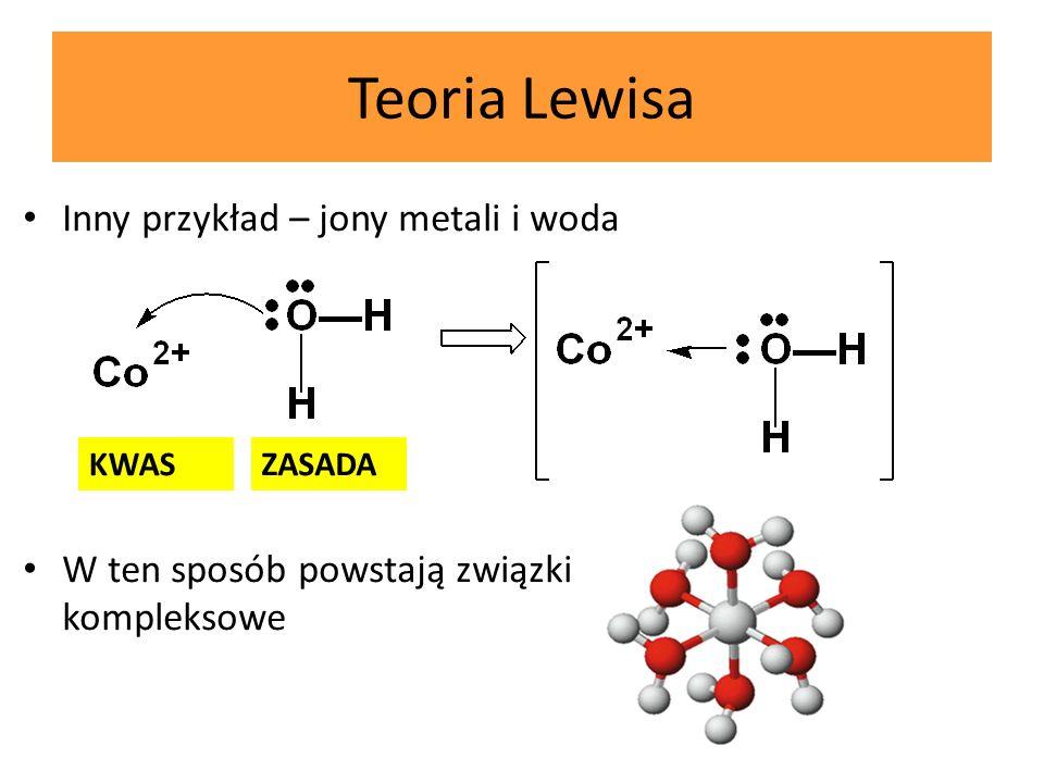Teoria Lewisa Inny przykład – jony metali i woda