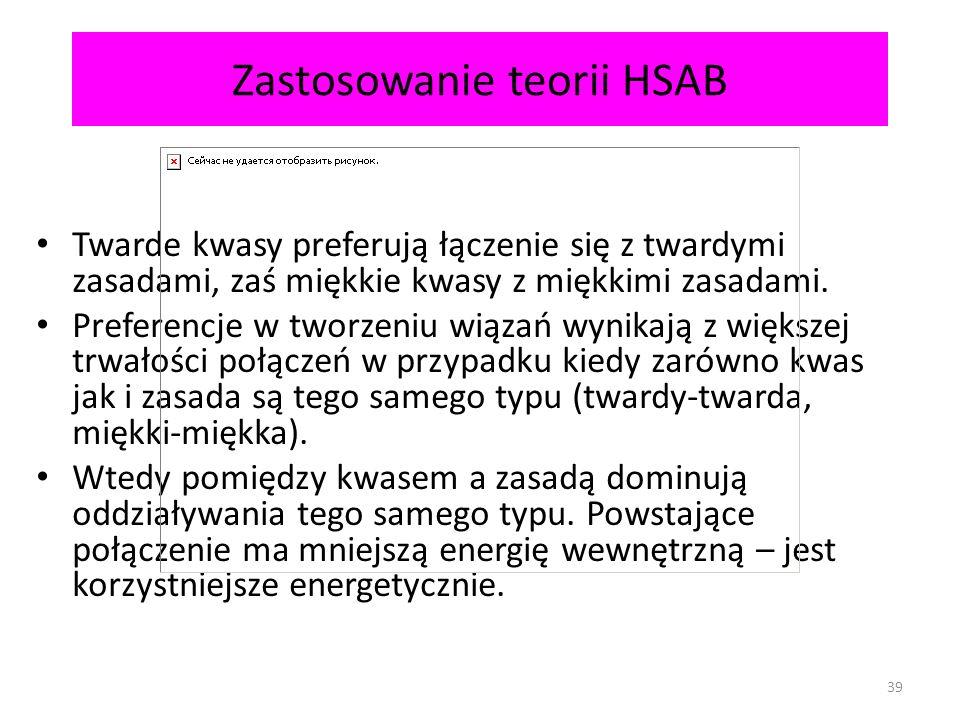 Zastosowanie teorii HSAB