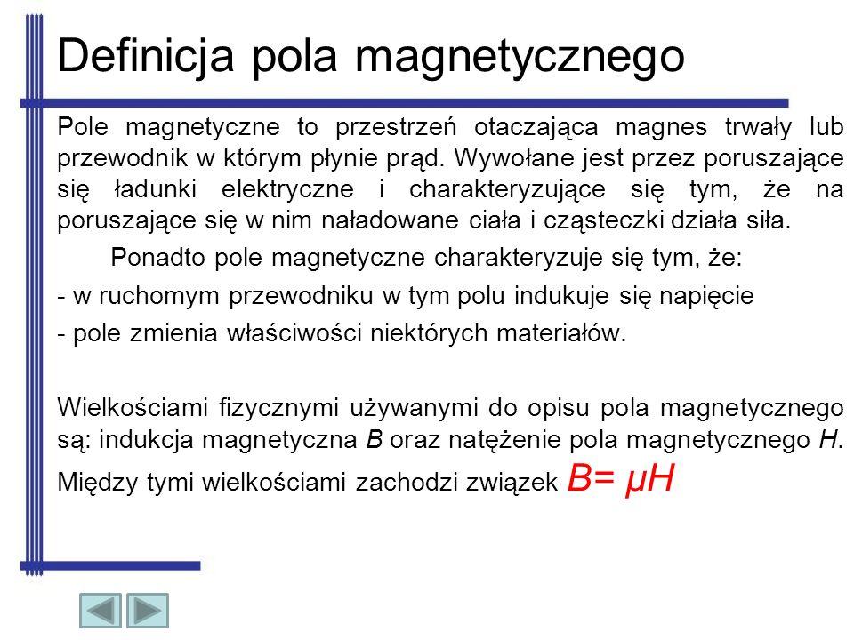 Definicja pola magnetycznego