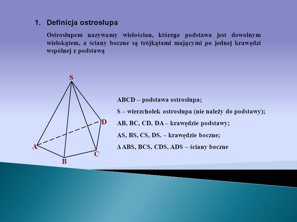 Definicja ostrosłupa S D A C B