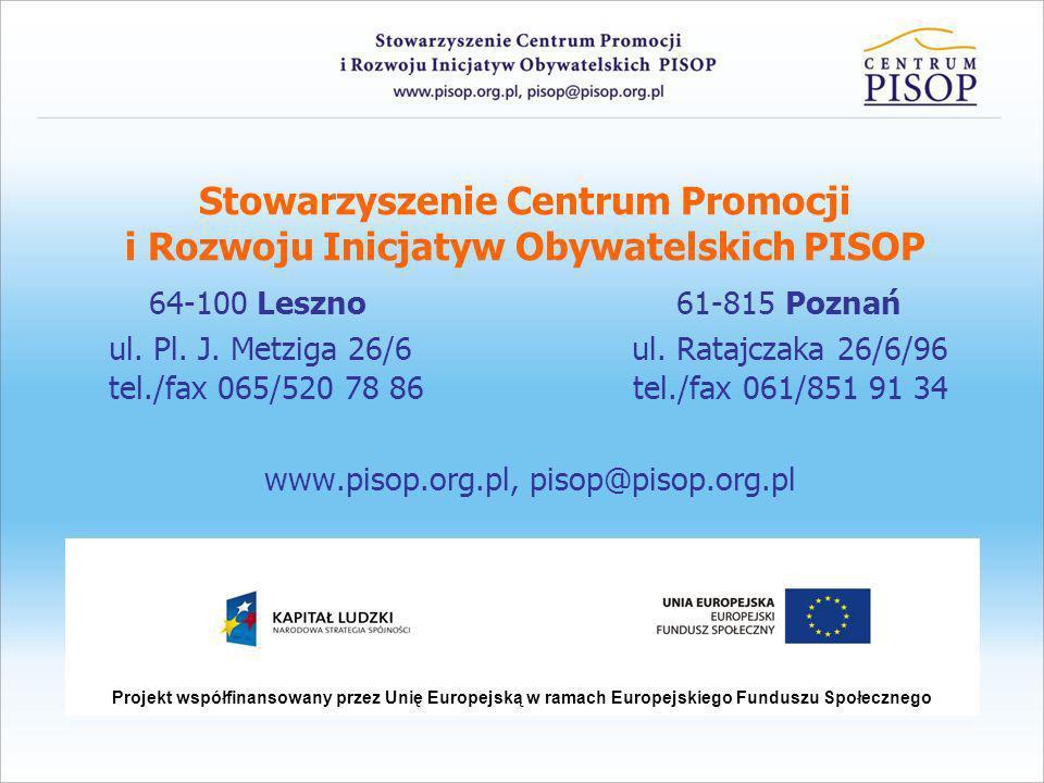 www.pisop.org.pl, pisop@pisop.org.pl
