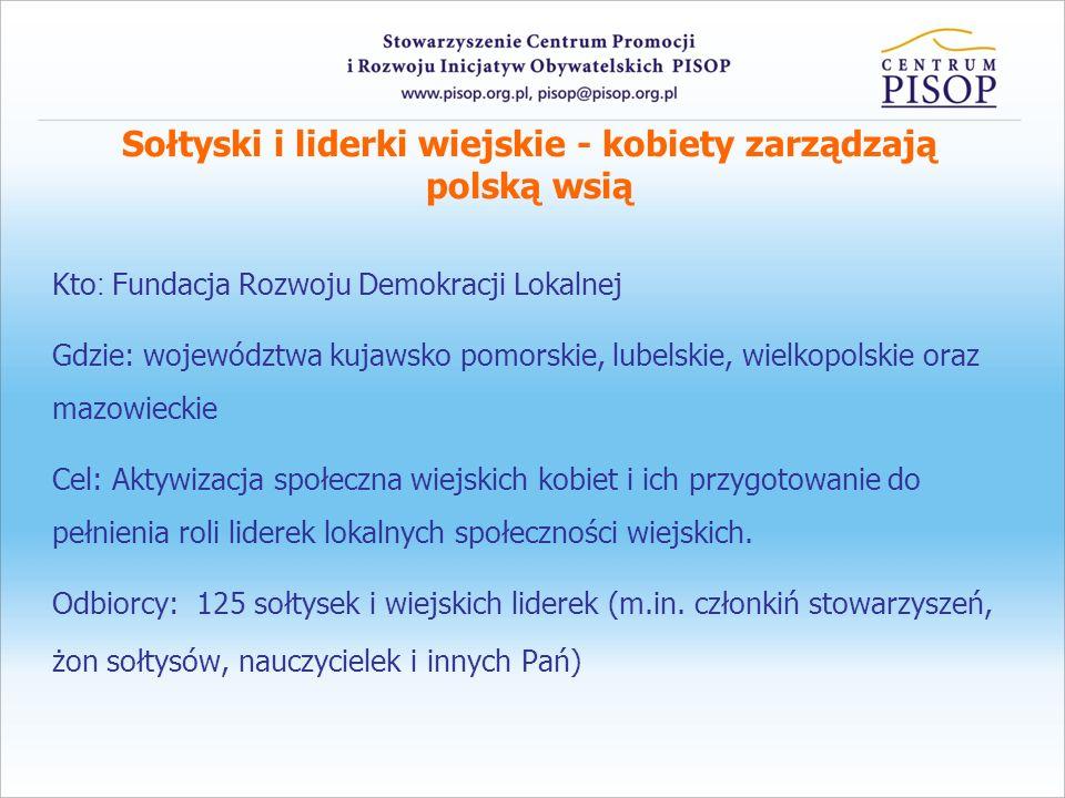 Sołtyski i liderki wiejskie - kobiety zarządzają polską wsią