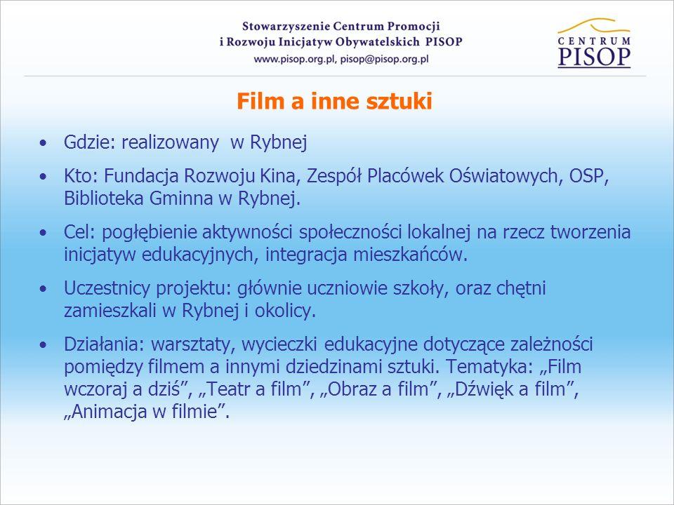 Film a inne sztuki Gdzie: realizowany w Rybnej