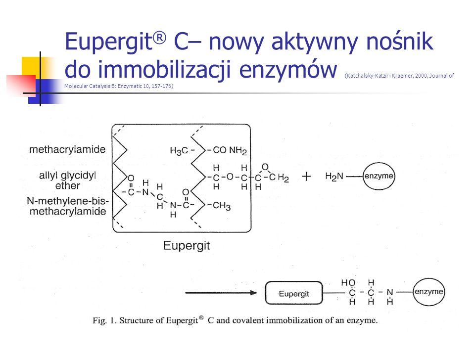 Eupergit® C– nowy aktywny nośnik do immobilizacji enzymów (Katchalsky-Katzir i Kraemer, 2000, Journal of Molecular Catalysis B: Enzymatic 10, 157-176)