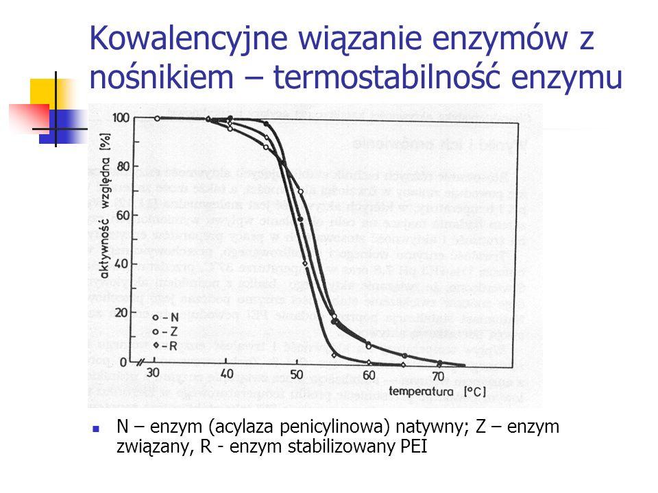 Kowalencyjne wiązanie enzymów z nośnikiem – termostabilność enzymu