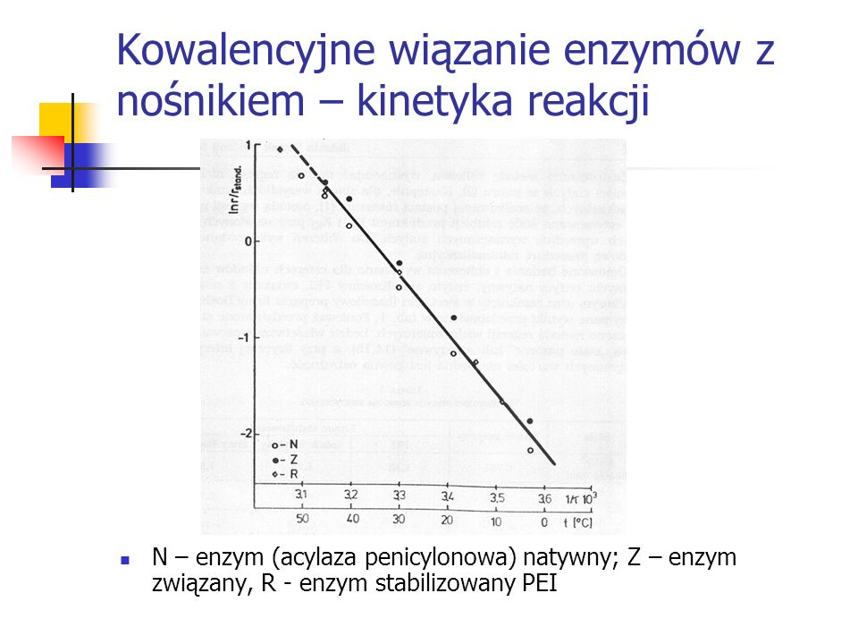 Kowalencyjne wiązanie enzymów z nośnikiem – kinetyka reakcji
