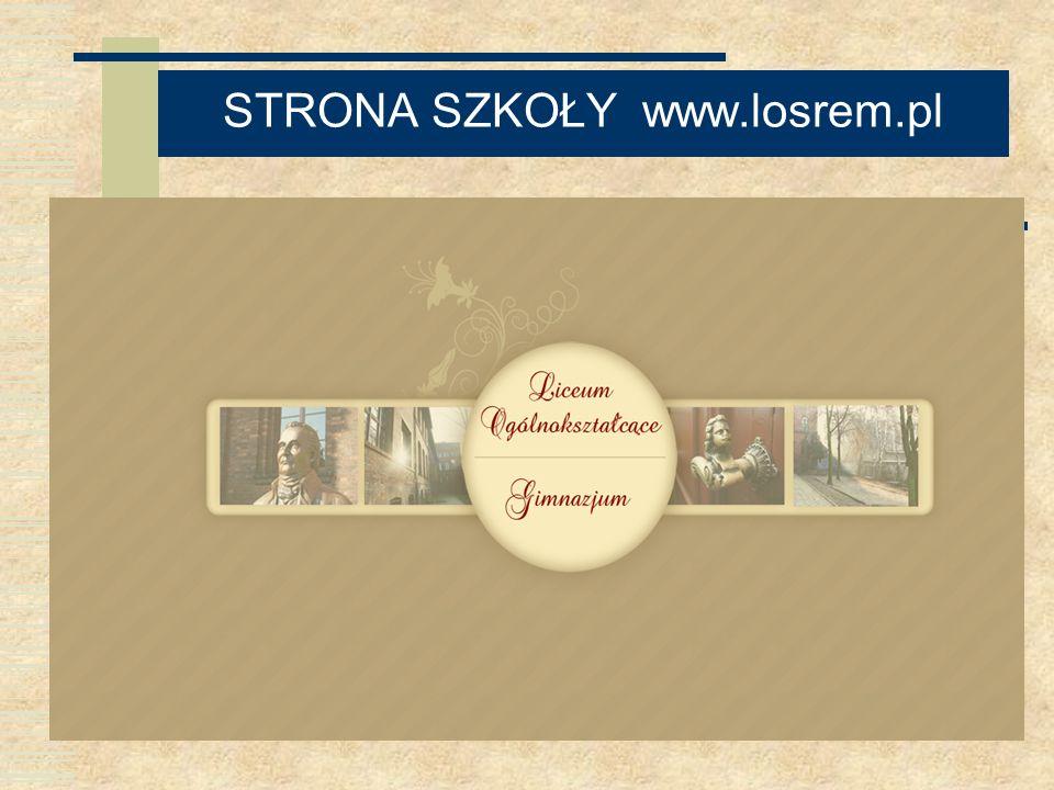 STRONA SZKOŁY www.losrem.pl