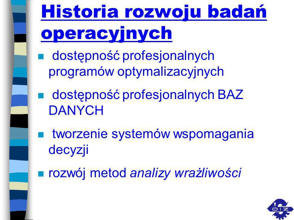 Historia rozwoju badań operacyjnych