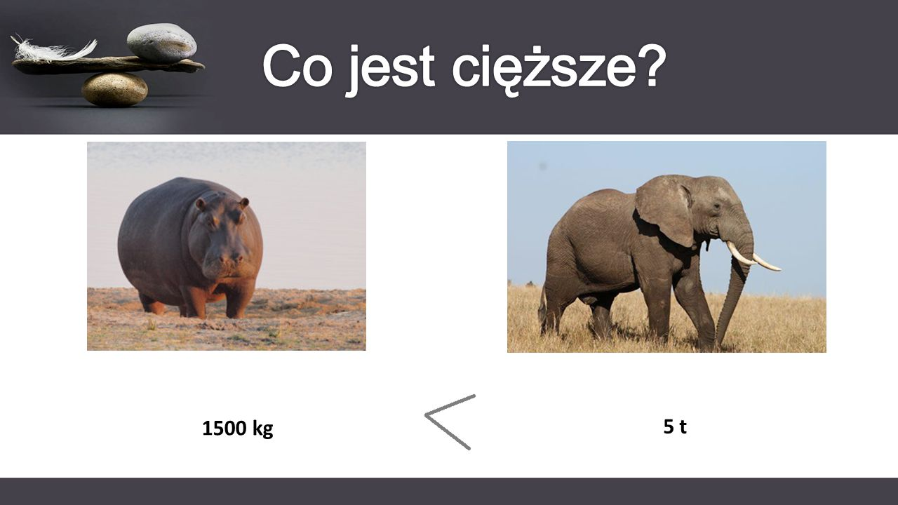 Co jest cięższe 1500 kg 5 t