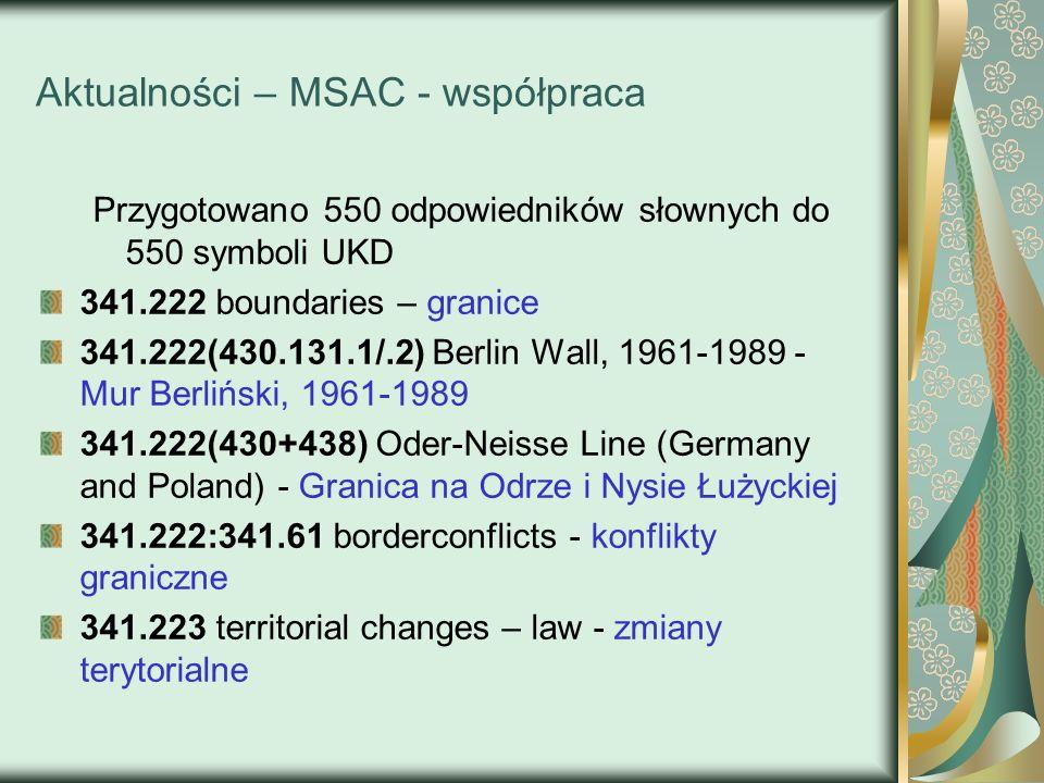 Aktualności – MSAC - współpraca