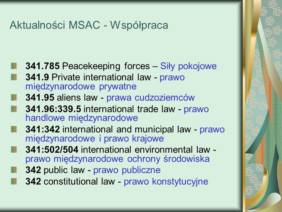 Aktualności MSAC - Współpraca