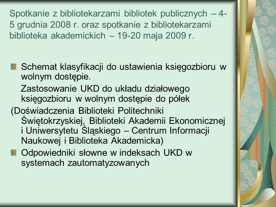 Spotkanie z bibliotekarzami bibliotek publicznych – 4-5 grudnia 2008 r