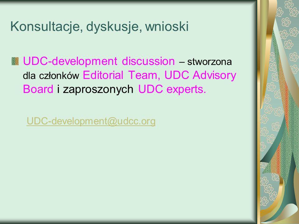 Konsultacje, dyskusje, wnioski