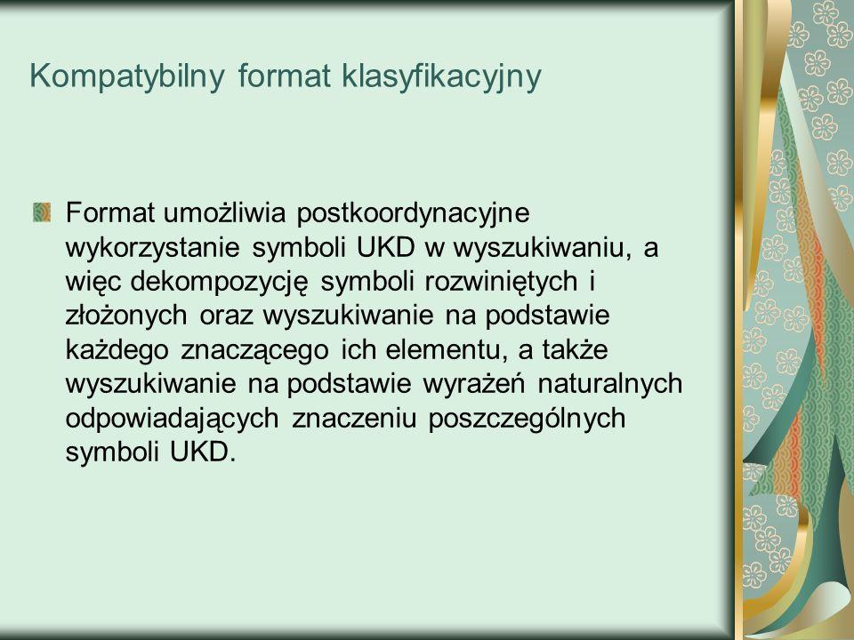 Kompatybilny format klasyfikacyjny