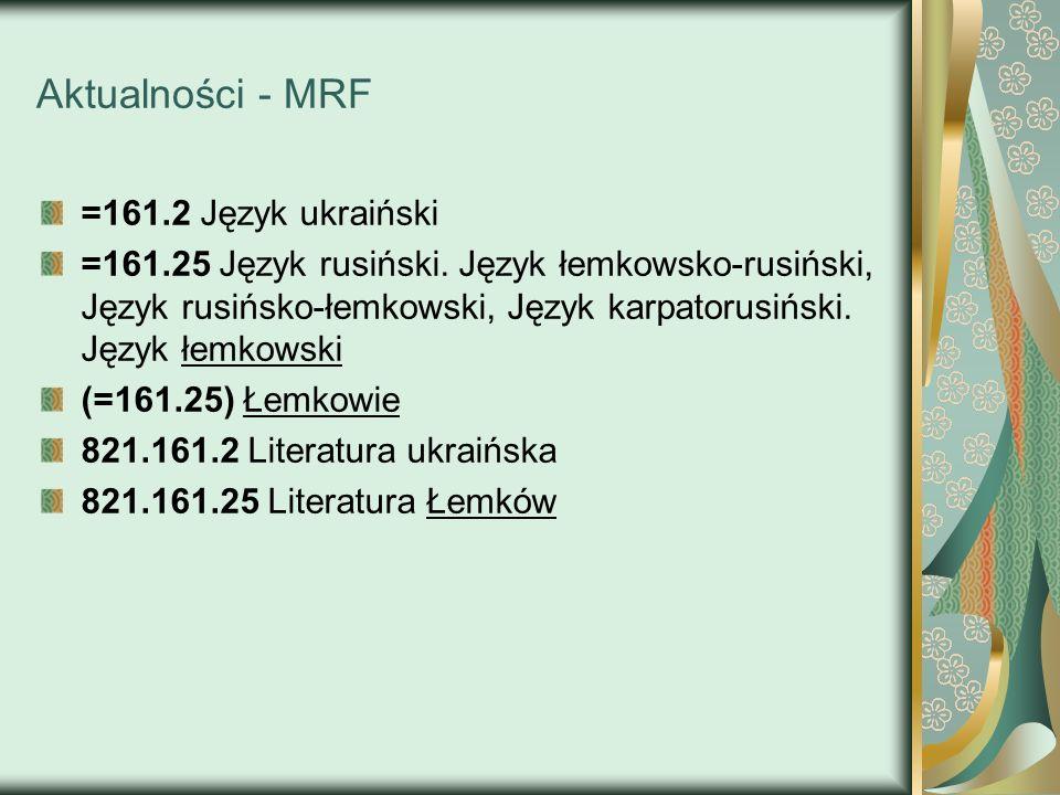 Aktualności - MRF =161.2 Język ukraiński