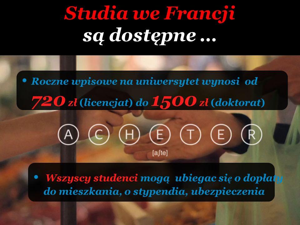 Studia we Francji są dostępne …