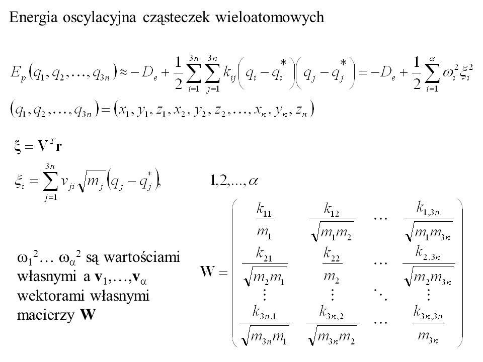 Energia oscylacyjna cząsteczek wieloatomowych