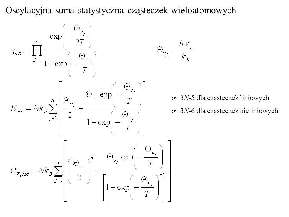 Oscylacyjna suma statystyczna cząsteczek wieloatomowych