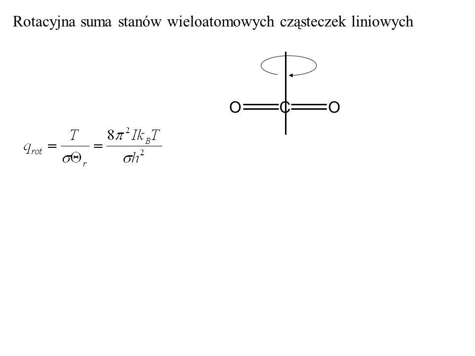 Rotacyjna suma stanów wieloatomowych cząsteczek liniowych