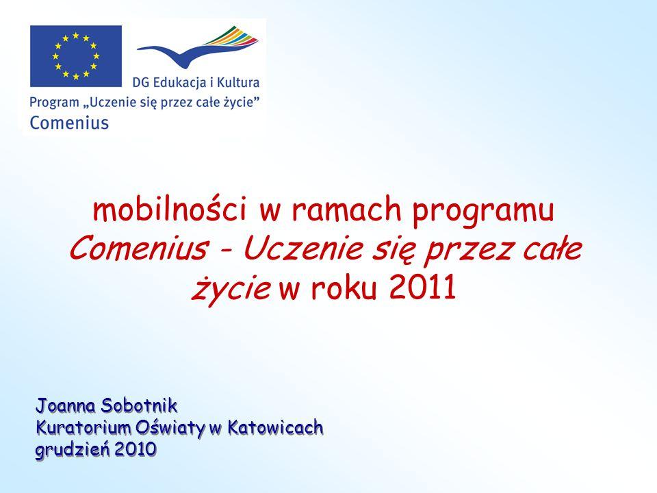 mobilności w ramach programu Comenius - Uczenie się przez całe życie w roku 2011