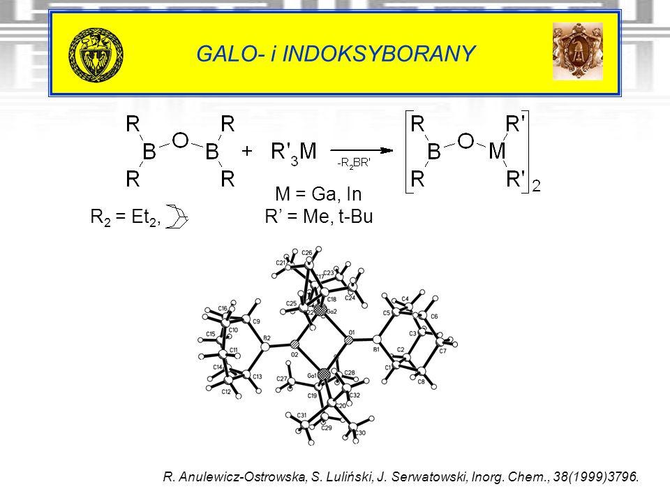 GALO- i INDOKSYBORANY M = Ga, In R' = Me, t-Bu R2 = Et2,