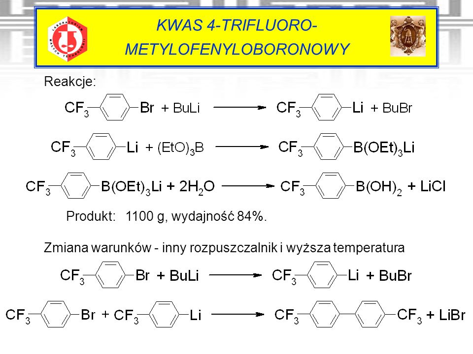 KWAS 4-TRIFLUORO- METYLOFENYLOBORONOWY