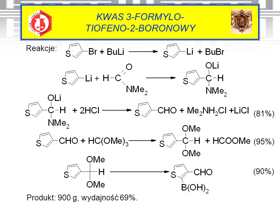 KWAS 3-FORMYLO- TIOFENO-2-BORONOWY