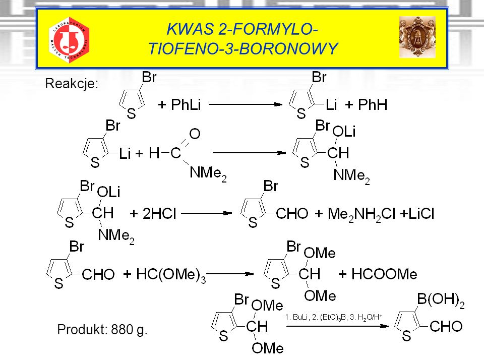 KWAS 2-FORMYLO- TIOFENO-3-BORONOWY