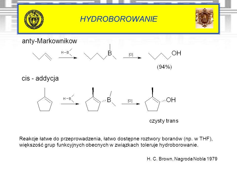 HYDROBOROWANIE anty-Markownikow cis - addycja