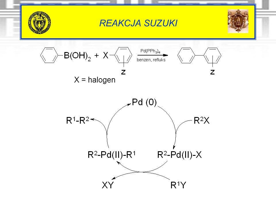 REAKCJA SUZUKI X = halogen