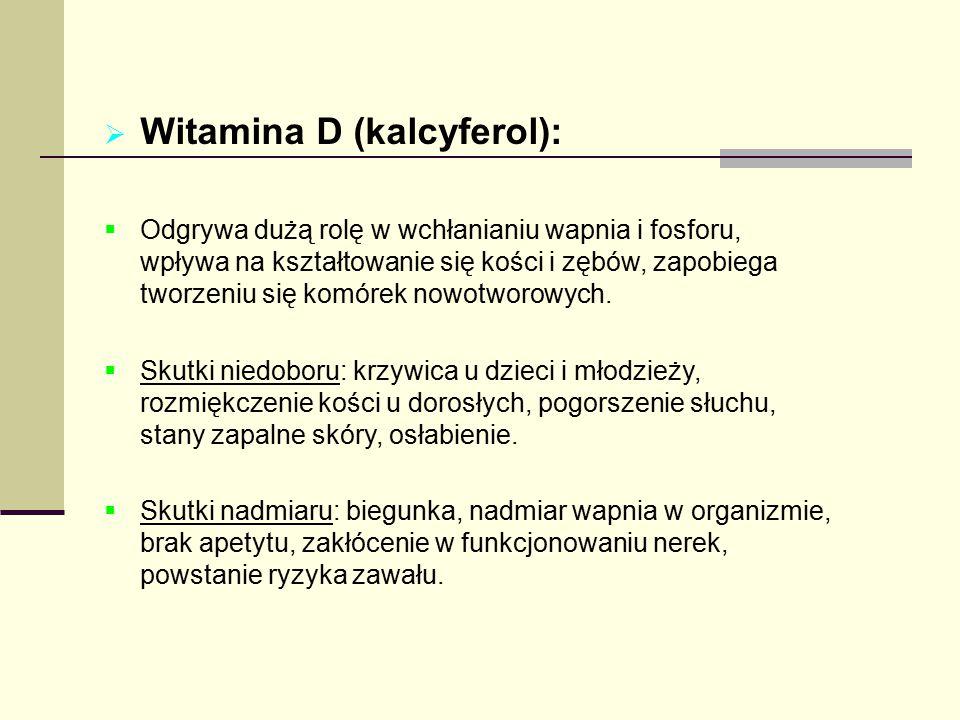 Witamina D (kalcyferol):