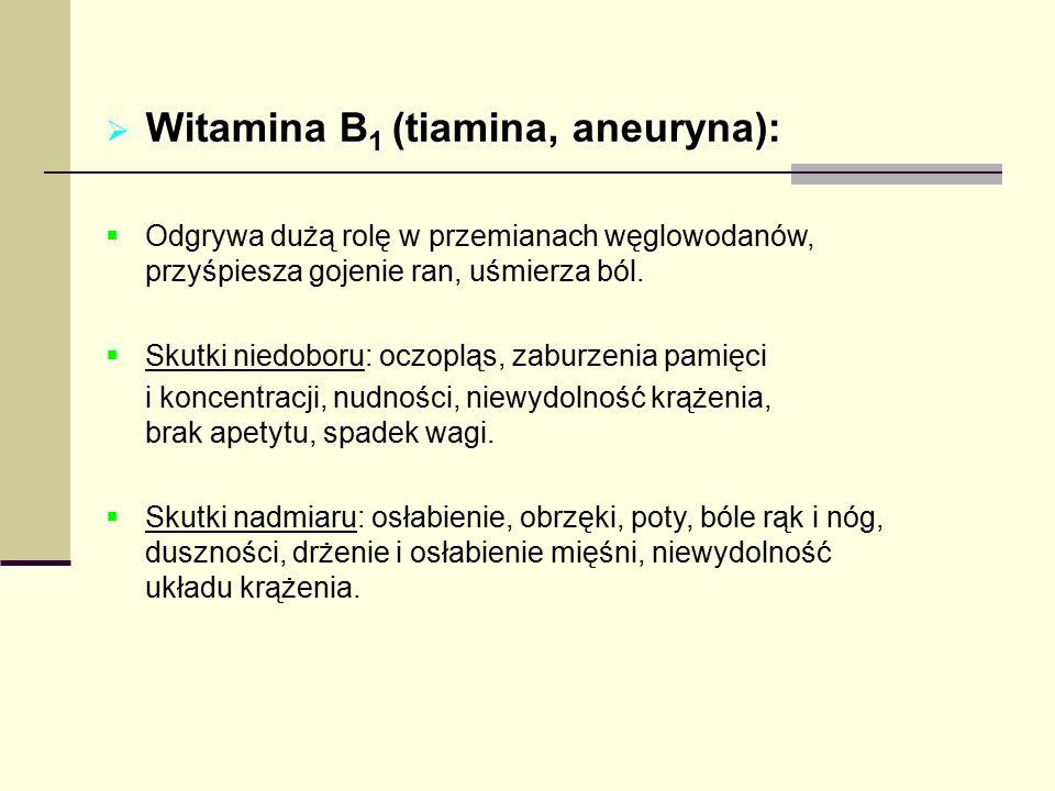 Witamina B1 (tiamina, aneuryna):