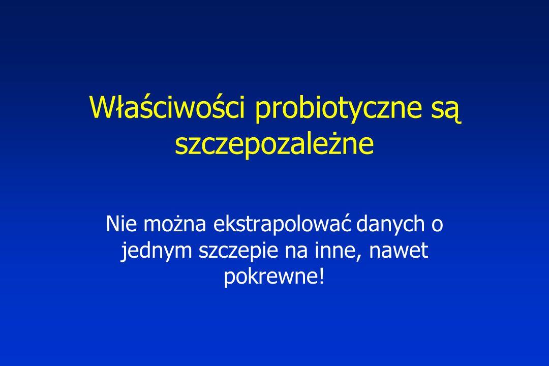 Właściwości probiotyczne są szczepozależne
