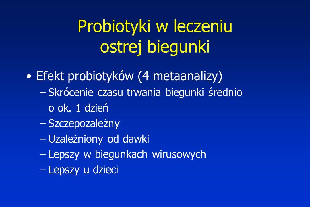 Probiotyki w leczeniu ostrej biegunki