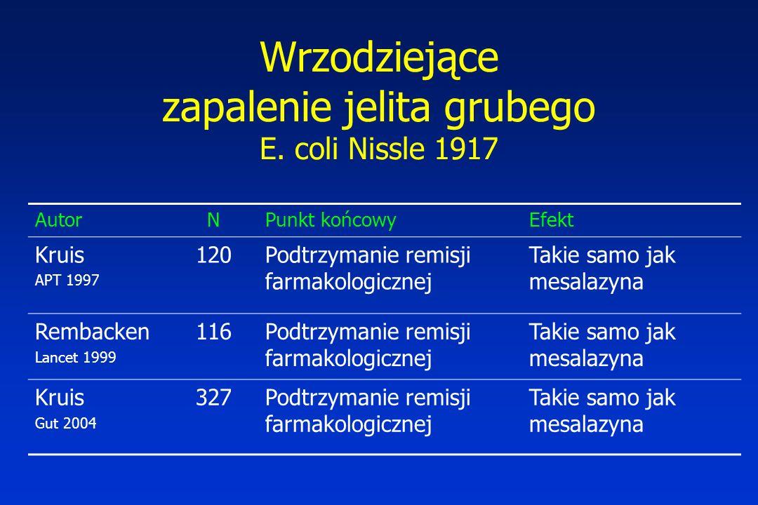 Wrzodziejące zapalenie jelita grubego E. coli Nissle 1917