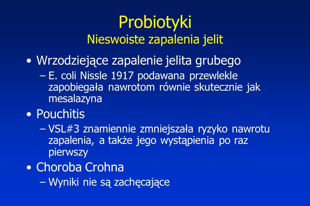 Probiotyki Nieswoiste zapalenia jelit