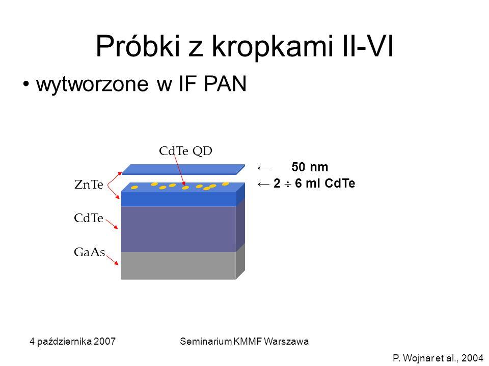 Próbki z kropkami II-VI
