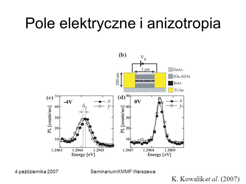 Pole elektryczne i anizotropia