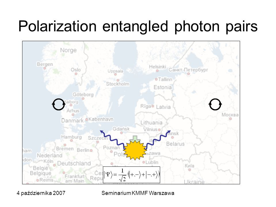 Polarization entangled photon pairs