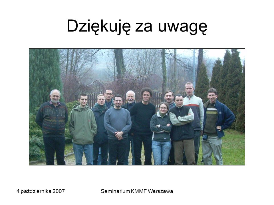 Seminarium KMMF Warszawa