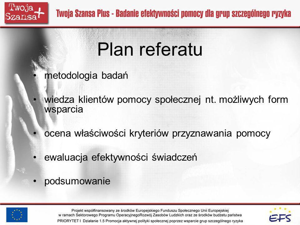 Plan referatu metodologia badań
