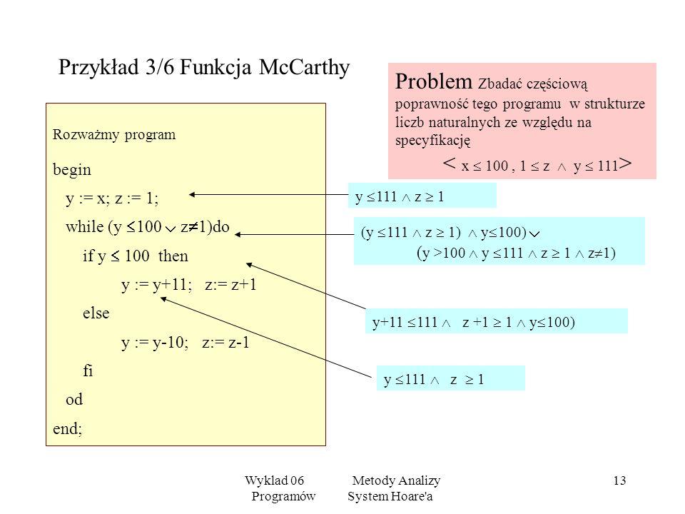 Przykład 3/6 Funkcja McCarthy