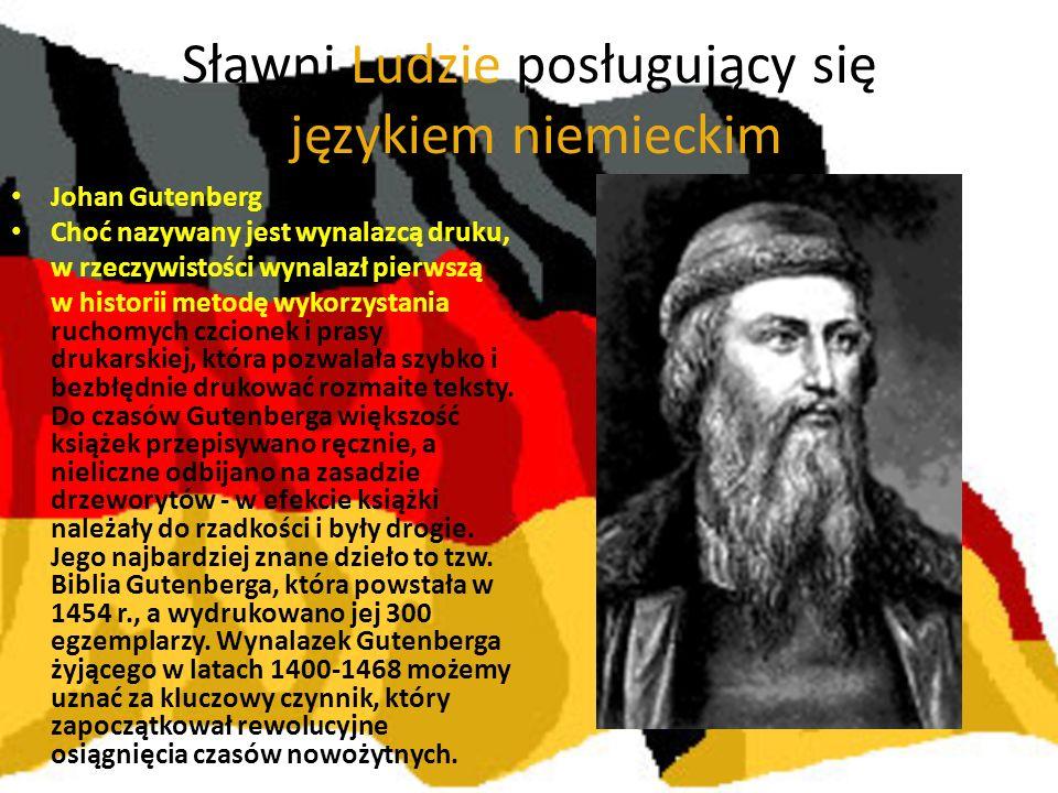 Sławni Ludzie posługujący się językiem niemieckim