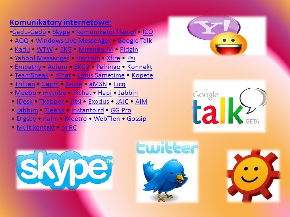 Komunikatory internetowe: