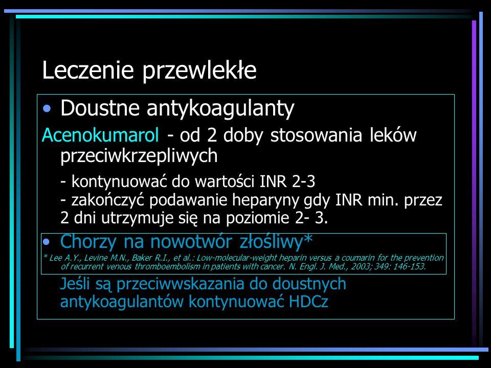 Leczenie przewlekłe Doustne antykoagulanty