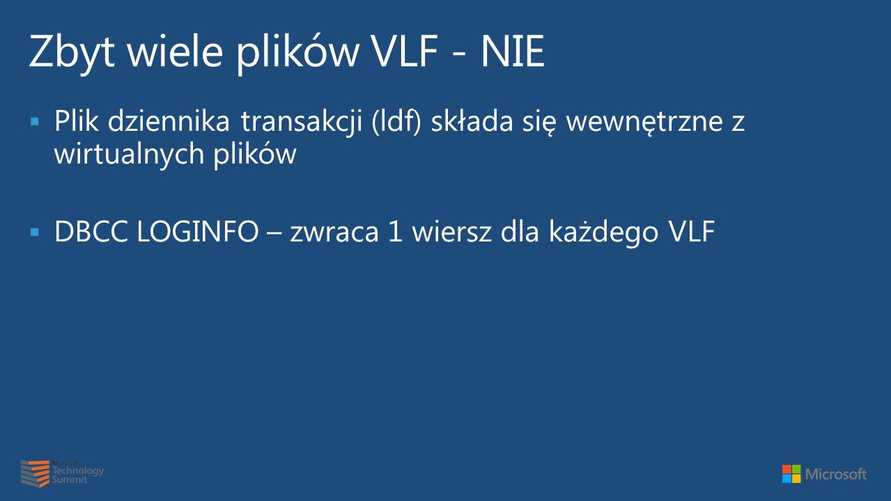 Zbyt wiele plików VLF - NIE
