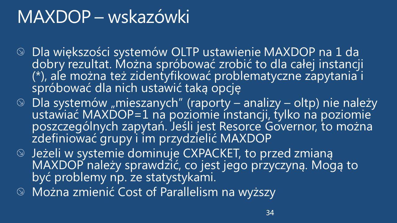 MAXDOP – wskazówki