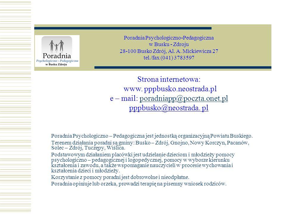Poradnia Psychologiczno-Pedagogiczna w Busku - Zdroju